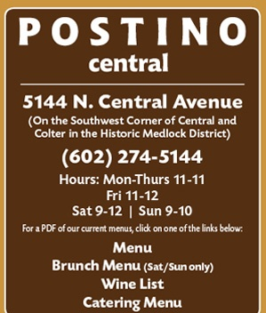 I must start by saying that I am quite the Bruschetta coneseur, and Postino has, by far, the very best!      Their happy hour is super awesome; 11-5 M-F with $5 glasses of vino!  They have a few locations, but my favorite thus far has been the Central spot.      If you haven't been... you MUST give it a try!