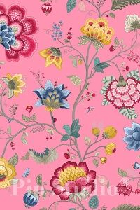 PiP Floral Fantasy Light Pink wallpaper