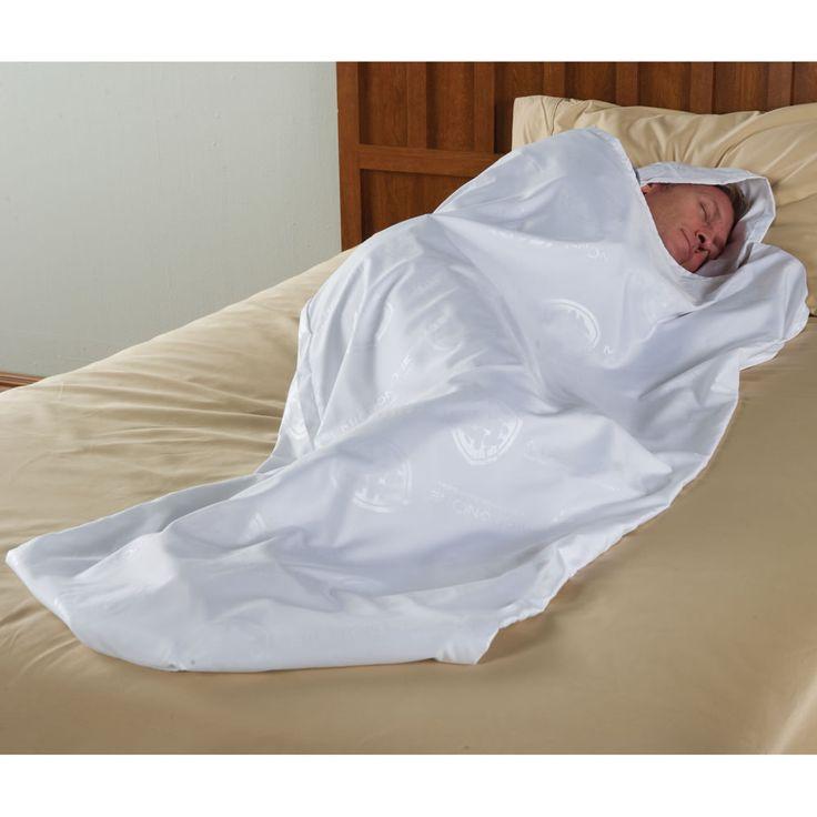 The Traveler's Bed Bug Thwarting Sleeping Cocoon - Hammacher Schlemmer