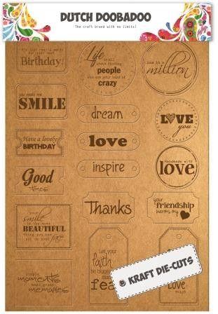 474.007.001 Dutch Doobadoo Label Art Every Day words