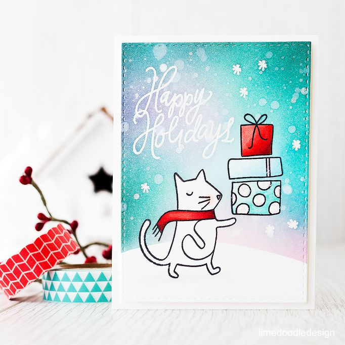 Adorable stamp set from the December Card Kit! Find out more here: http://limedoodledesign.com/2015/11/video-december…rd-kitgiveaway/: