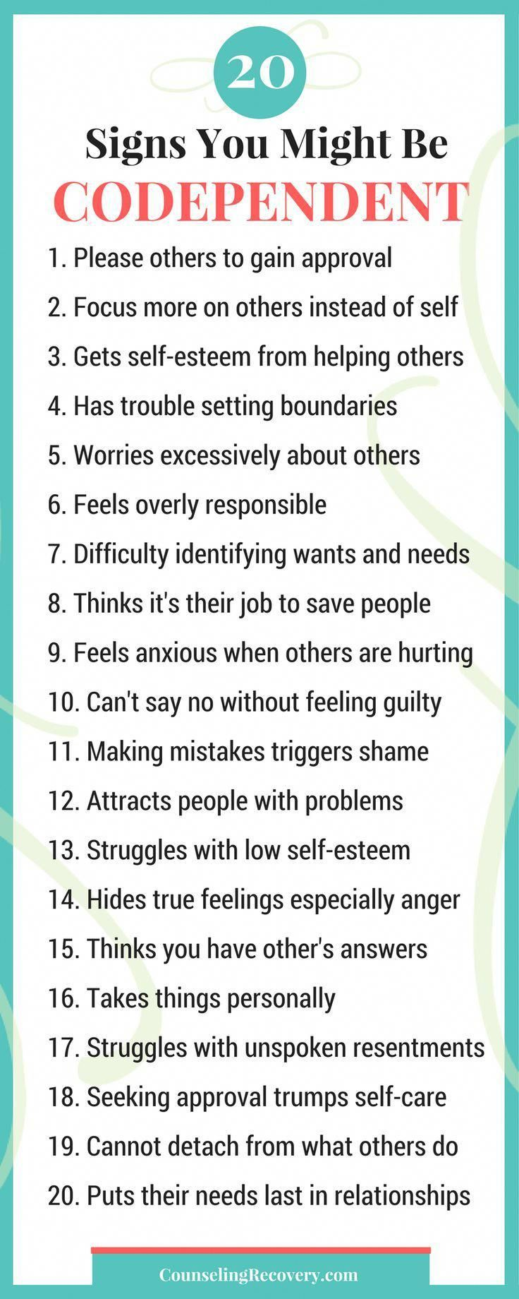 Symptoms of a codependent relationship