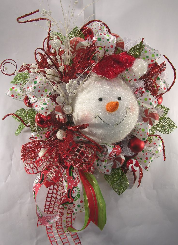 Frosty Face Christmas Wreath