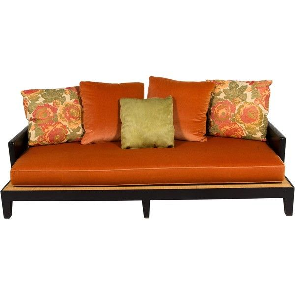 Sofa Sale Pre owned Wooden Opium Daybed liked on Polyvore featuring home