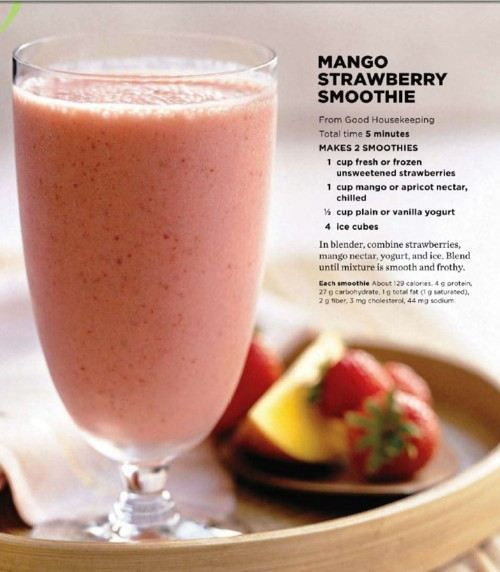 mango strawberry smootie