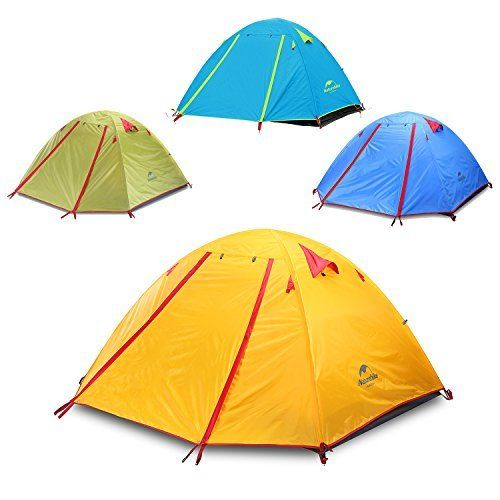 The Topnaca 2-3-4 person 3 season Backpacking Tents Feature Super Classic Interior Design, Door Can Be Opened from Inside and Outside, Convenient and Comfortable. Brace Type Window, Outside the Tent Top Has Two Closeable Ventilation Skylights, Easy to Use
