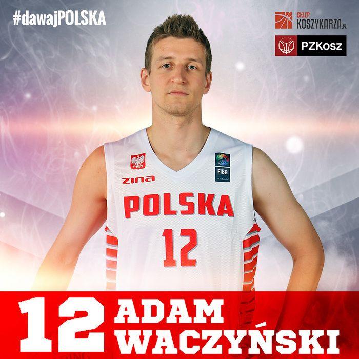 Adam Waczyński (#12) - rzucający obrońca / niski skrzydłowy  Reprezentant Polski w Koszykówce
