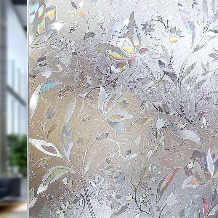 Details zu WINDOW FILM 3D VIEW STATIC CLING DECORATIVE PRIVACY GLASS STICKER 18X79` – 2019