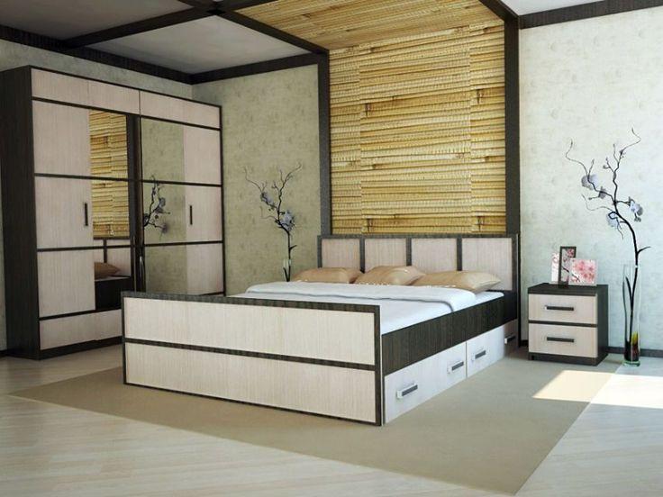 """Комфортная и уютная спальня - залог полноценного отдыха. Спальня в восточно-японском стиле является олицетворением природы, естественности и натуральности. Спальня """"Сакура-2"""" не пустит в свои покои будничные заботы, тревоги и негатив – все это остается за порогом."""