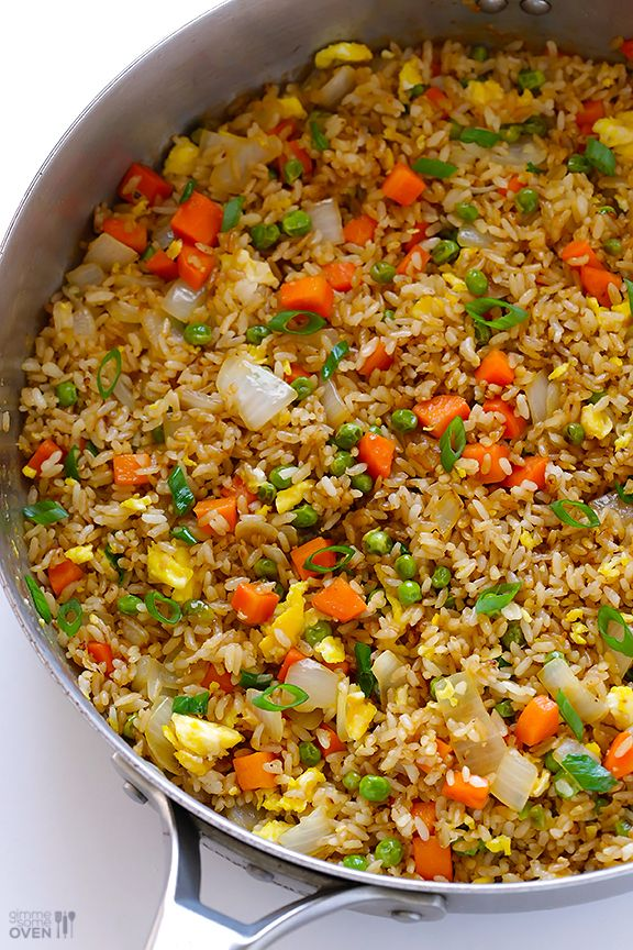 Restaurant Style Fried Rice - use gluten-free soy sauce & use gluten-free oyster sauce (or omit oyster sauce altogether since it's optional anyway) @Ali Ebright (Gimme Some Oven)