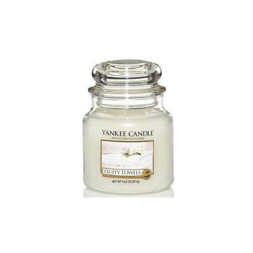 Bougies Yankee Candle - Moyenne jarre Fluffy towels / Serviettes moelleuses Candlestore.fr