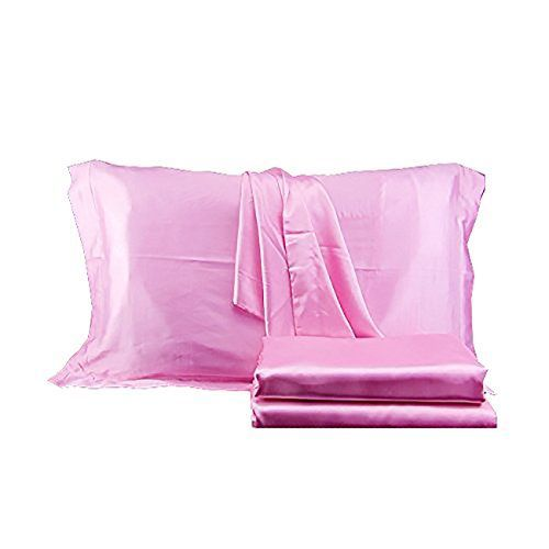 Looking for bedroom design photos... Brandream Silky Satin Bed Sheet Set Soft Sheets Pink Bedding Queen Size,4pc  http://aluxurybed.com/product/brandream-silky-satin-bed-sheet-set-soft-sheets-pink-bedding-queen-size4pc/ #DesignerBedSheets