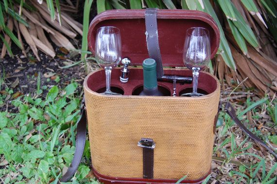 Vintage Wine Case Portable Wine Case Leather by PickersWarehouse, $79.00
