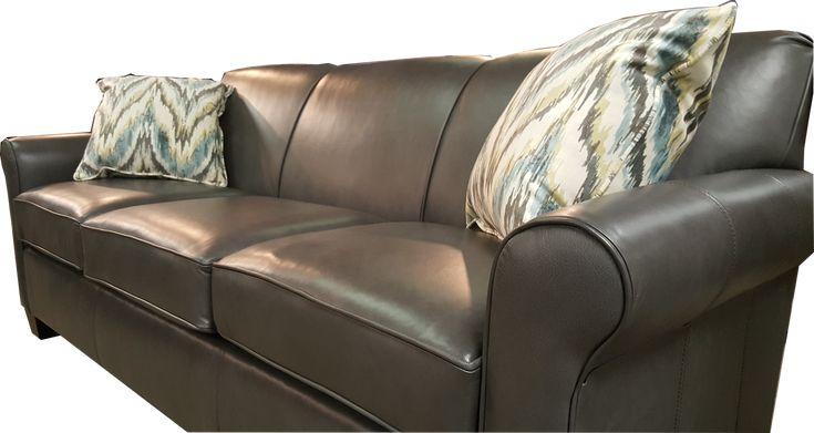Grey Leather Sofa Sales #LeatherFurniture #GreyLeather #Gray #Charleston #Augusta