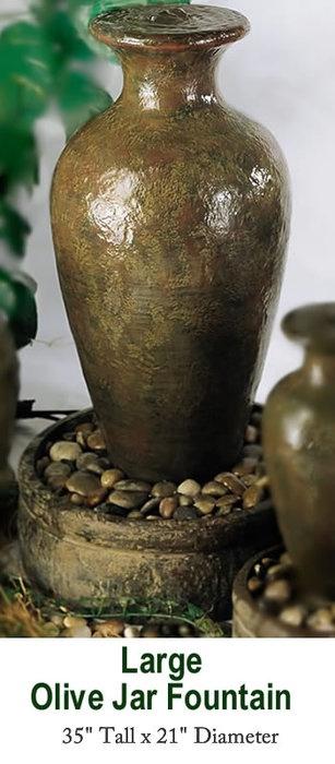 Olive jar fountain
