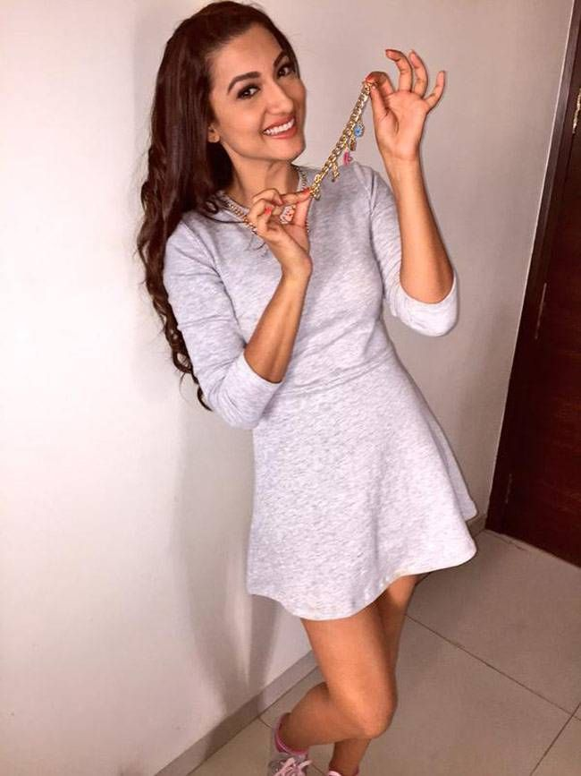 Gauahar (Gauhar) Khan in a short dress. #Bollywood #Fashion #Style #Beauty #Sexy #Hot