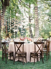 I like this: Outdoor Wedding, Idea, Paper Cranes, Hanging Flowers, Outdoor Tables Sets, Outside Wedding, Origami Cranes, Gardens Parties, Origami Birds