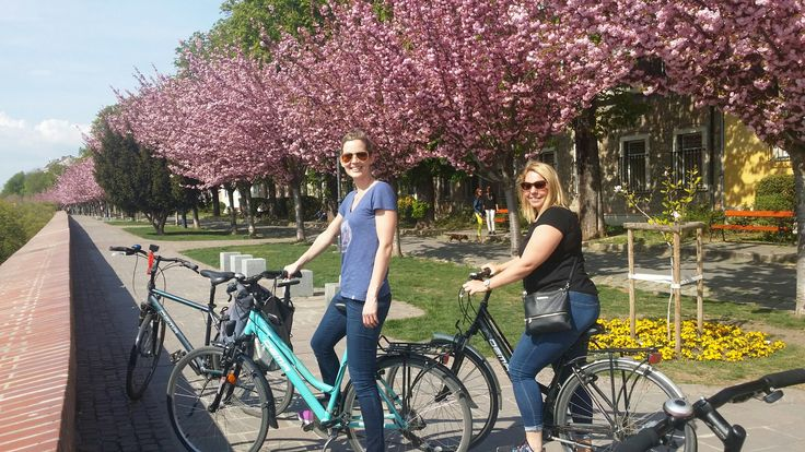 Bike tour Budapest with cherry blossom