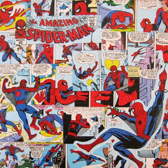 SpiderMan Decoupage Canvas