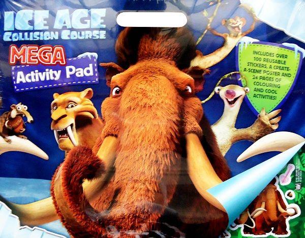 Buku Aktifitas Bahasa Inggris : Ice Age Collision Course Mega Activity, Di buku ini terdapat 100 reussble stickers, a create-a-scene poster and 24 pages....