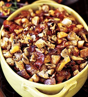 Chestnut-Sourdough Stuffing with Bacon