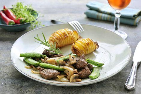 Biefstuk teriyaki met aardappel egels uit de Airfryer