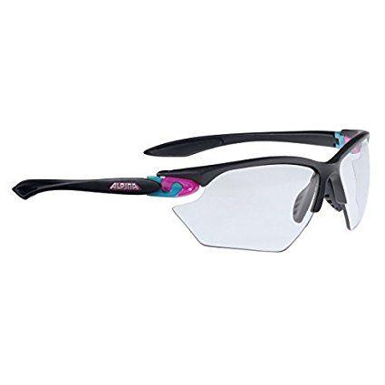 Alpina A8507.1.33 Twist Four S VL+ Sports Glasses, Black Matt-Pink-Blue by Alpina