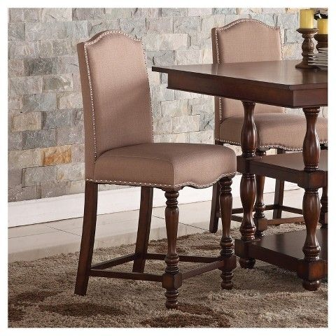 Home Source Pub Chair - Espresso - Set of 2