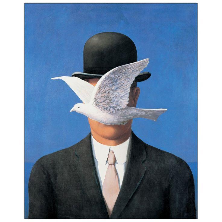 MAGRITTE - L'homme au chapeau 46x57 cm #artprints #interior #design #art #print #Magritte  Scopri Descrizione e Prezzo http://www.artopweb.com/EC21207