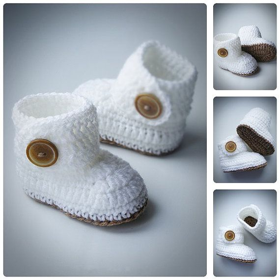 Hey, I found this really awesome Etsy listing at https://www.etsy.com/listing/213724780/white-crochet-baby-booties-ugg-style