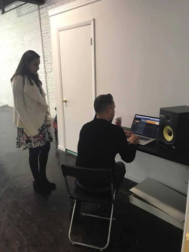 Our talent director working with Meera on her singing competition for IMTA LA 2018!!
