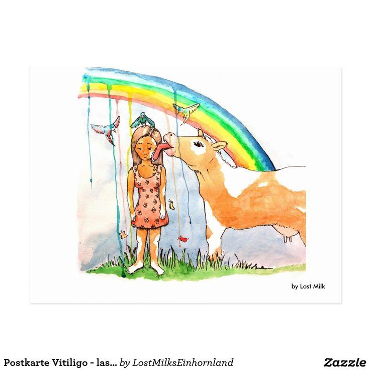 Postkarte Vitiligo - lass den Kopf nicht hängen!