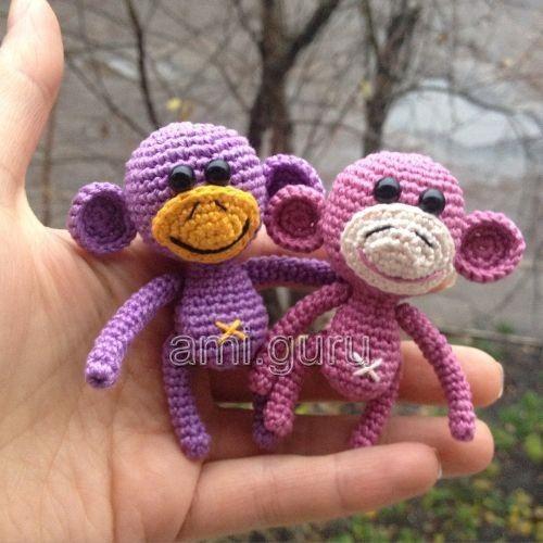 Patrón gratis amigurumi de mini mono