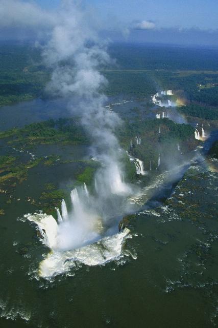Iguazú falls by air