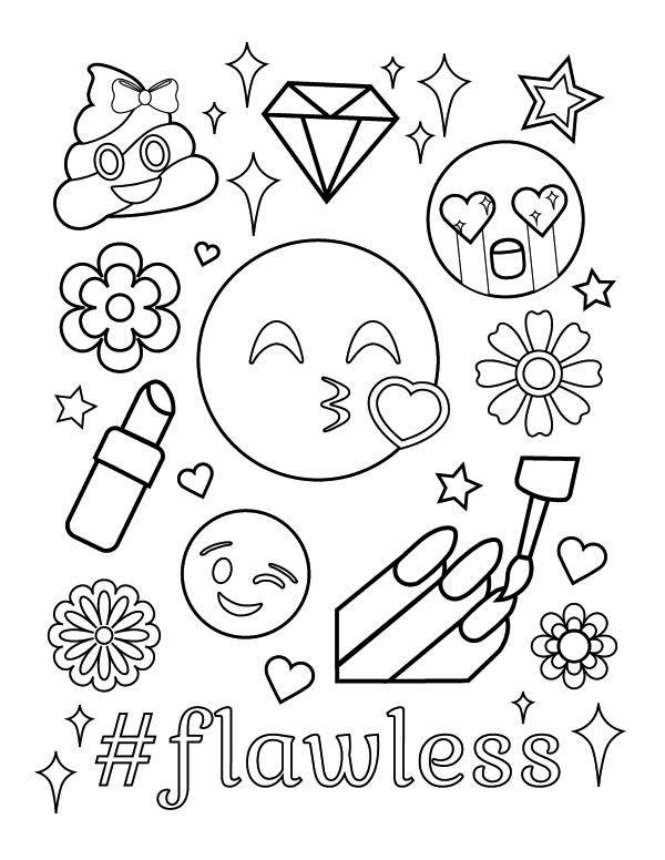 Kleurplaten Emoji.Pin By Soccer Princess On Spa Day Party Ideas Emoji Coloring Pages