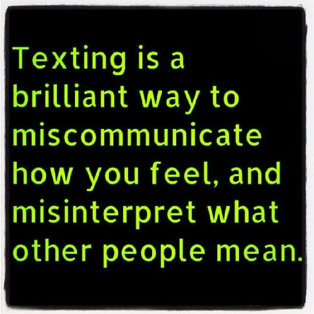 Text messaging means of communication