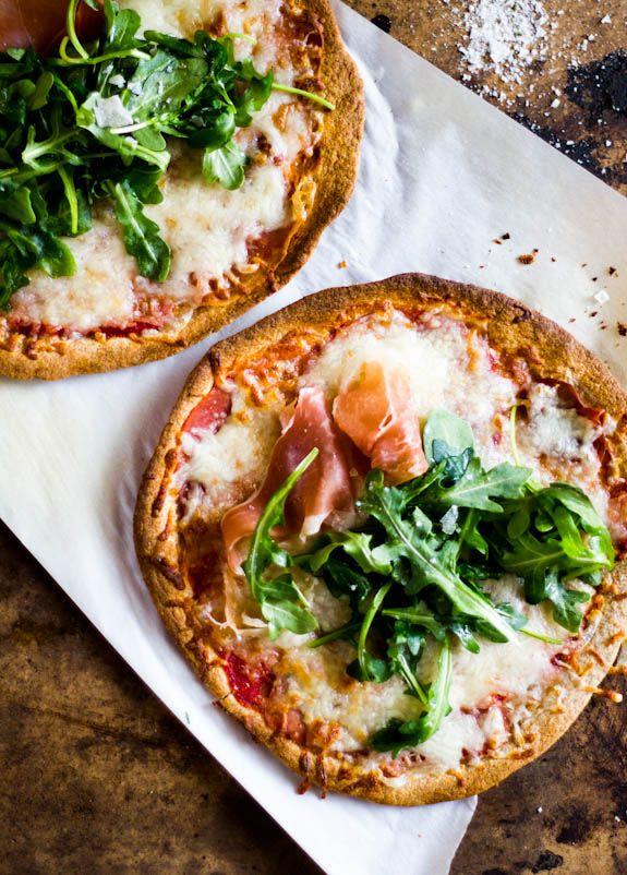whole wheat tortilla pizzas with arugula + prosciutto | The Clever Carrot