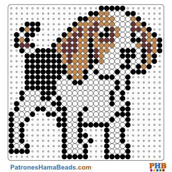 Perro plantilla hama bead. Descarga una amplia gama de patrones en formato PDF en www.patroneshamabeads.com