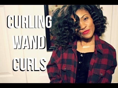 How To: Fabulous Curling Wand Curls On Natural Hair - YouTube
