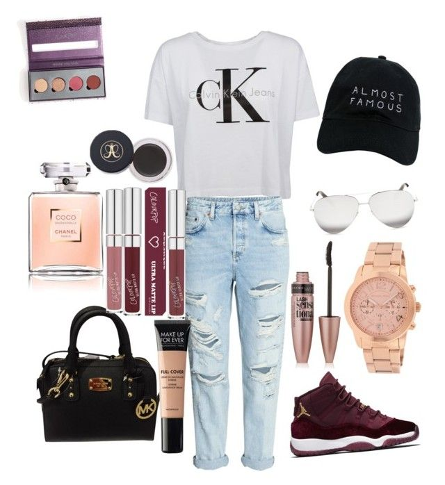 """""""Lunch outfit/ movies or mall outfit"""" by lizzyrarasea on Polyvore featuring Calvin Klein, Michael Kors, Victoria Beckham, Nasaseasons, Maybelline and MAKE UP FOR EVER"""