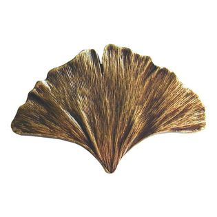 Notting Hill - Notting Hill Ginkgo Leaf Knob - Antique Brass - Notting Hill Decorative Hardware creates distinctive, high-end decorative cabinet hardware. Our cabinet knobs and handles are hand-cast of solid fine pewter and bronze with a variety of finishes. Notting Hill's decorative kitchen hardware features classic designs with exceptional detail and craftsmanship. Our collections offer decorative knobs, pulls, bin pulls, hinge plates, cabinet backplates, and appliance pulls. Dimensions…