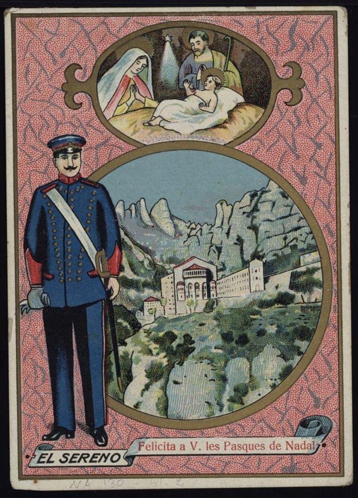 El Sereno felicita a V. les Pasques de Nadal. Any 1920. Fons Joan Amades.