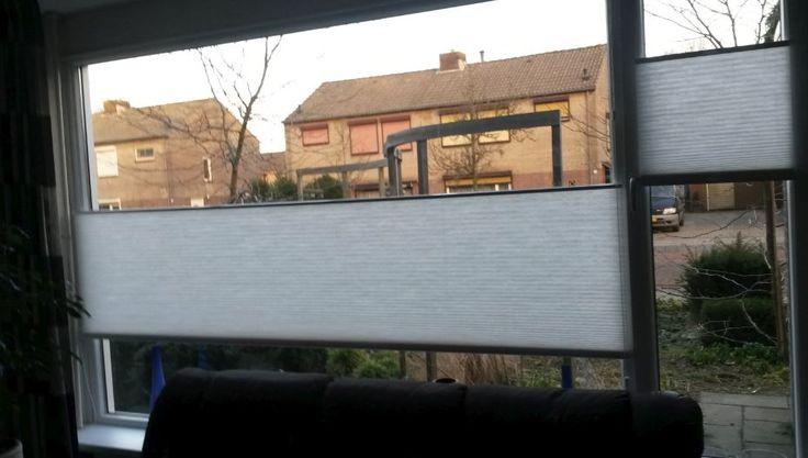 Dupli-plissé gordijnen. Verkrijgbaar bij Deco Home Bos in Boxmeer. info@decohomebos.nl