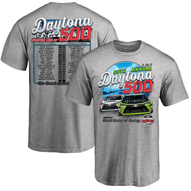 Fanatics Branded 2017 Daytona 500 Lineup T-Shirt - Gray