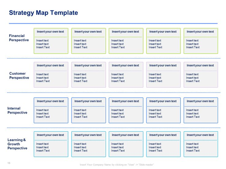 Best Strategy Map Template  Balanced Scorecard Template  By