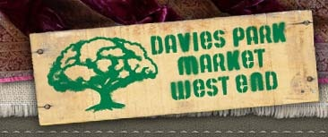 The weekend at last! Davies Park Market West End