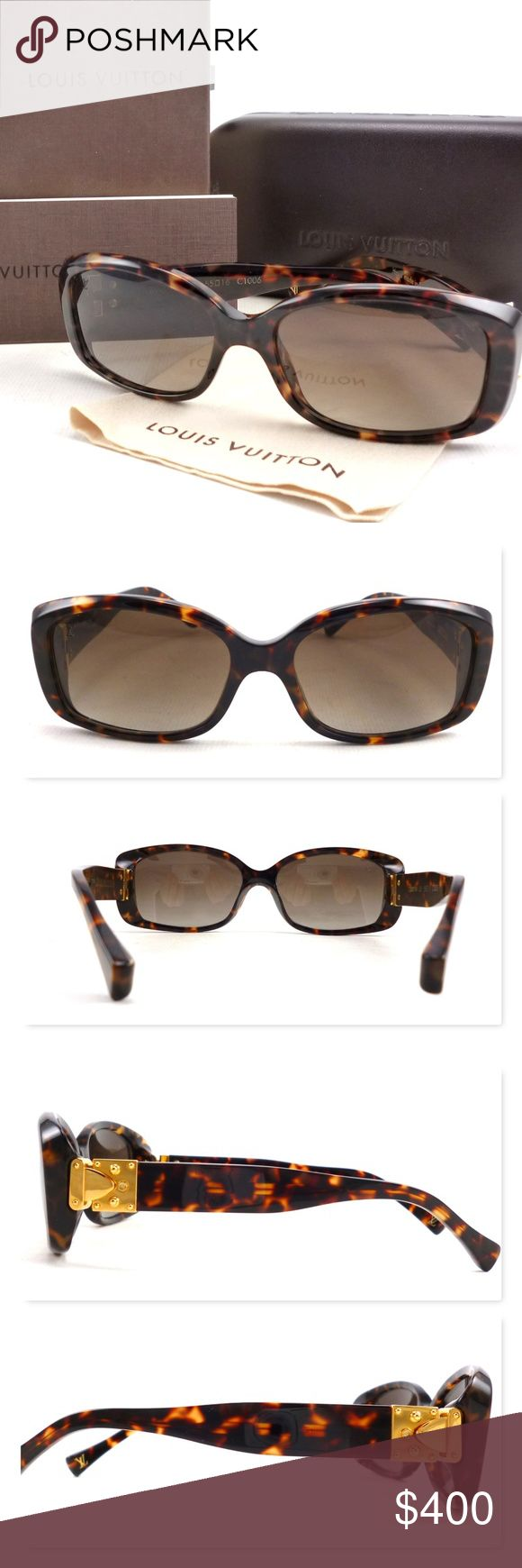 Louis Vuitton Auth Soupcon Women's Sunglasses New Authentic Louis Vuitton Soupcon Tortoise Shell Frame Women's Sunglasses. New floor model condition comes with LV box, case, cleaning cloth & care booklet. Features S-Lock hinges and tortoise shell acetate frames. Size 55-16. Hand made in Italy. Feel free to ask any questions. Sorry, no trades. 103629 Louis Vuitton Accessories Sunglasses