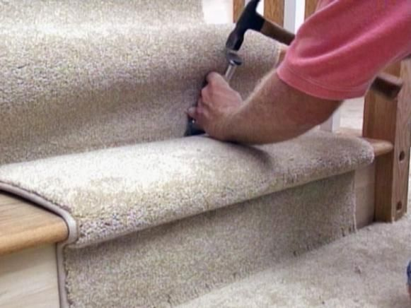 How to Install a Carpet Runner on Stairs | Easy Ideas for Organizing and Cleaning Your Home | HGTV