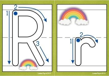 Playdough Mats - Alphabet with Correct Letter Formation and Pictures (Colored and Plain background)