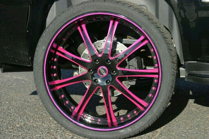 These sure would look cute Pink rims, Rims, Dream cars lexus